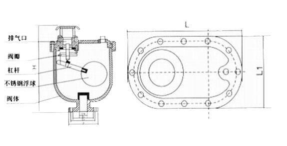 carx污水复合式排气阀结构图