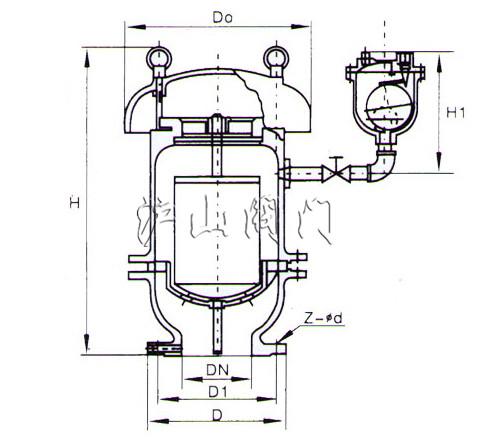 fgp4x复合式高速排气阀结构图
