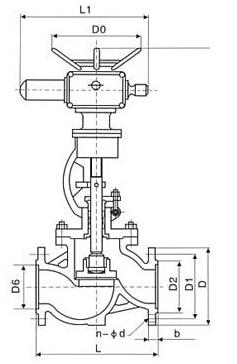 J941H电动截止阀结构图