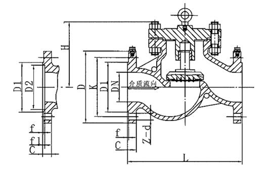 氧气止回阀结构图