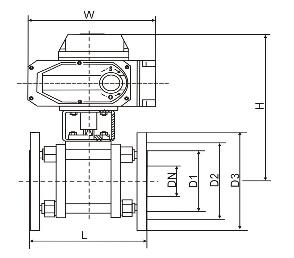 Q941TC电动陶瓷球阀结构图