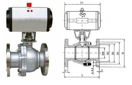 q641f不锈钢气动球阀结构图