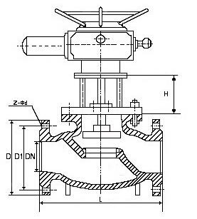 J941X电动排泥阀结构图