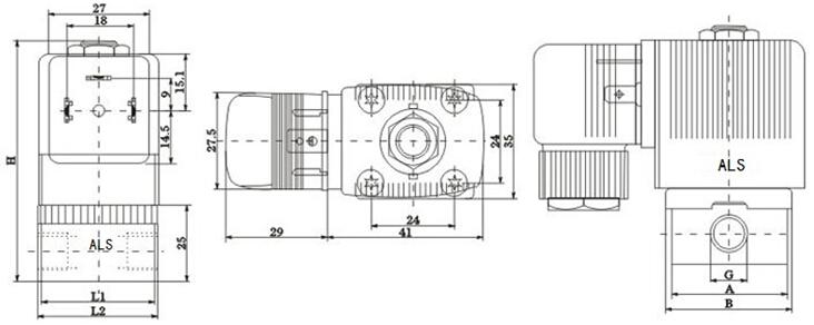 ZCD微型电磁阀结构图