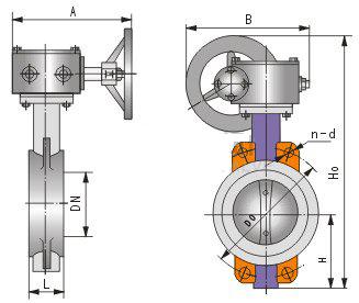 d371蜗轮对夹式软密封蝶阀图片